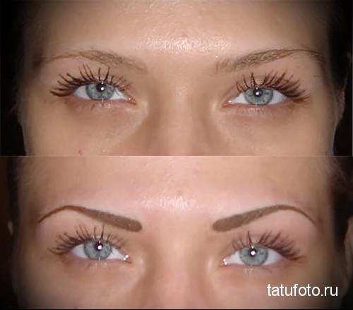 татуаж глаз с растушевкой фото 1
