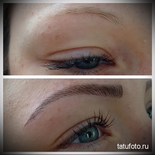 татуаж глаз фото до и после последствия 1