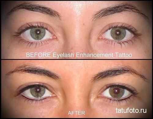 татуаж глаз фото до и после последствия 3