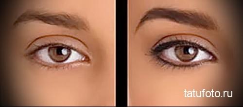 татуаж глаз фото последствия 1