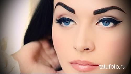 татуаж глаз хной 1