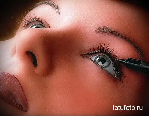 татуаж подводка глаз 1
