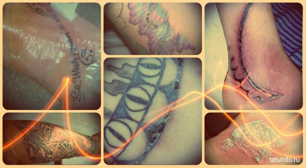 Как правильно заживить татуировку фото - примеры на фото