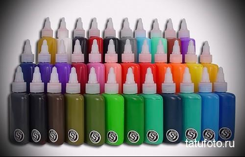 Пигменты и краски для татуировки фото 124к1 12 123 123