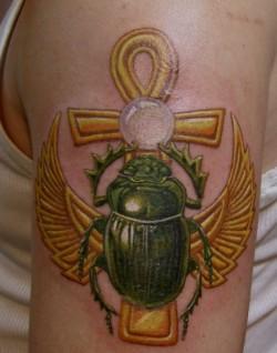 фото - тату жук скарабей 3