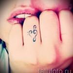 тату скрипичный и басовый ключ 6 фото