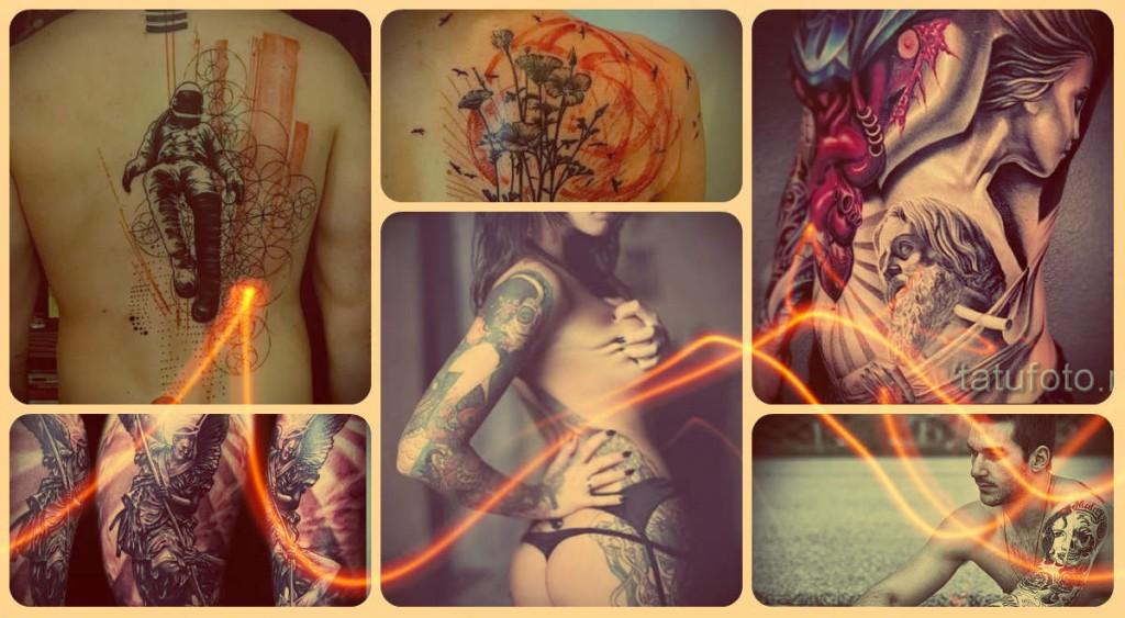 художественная татуировка - фото готовых вариантов татуировки - фото