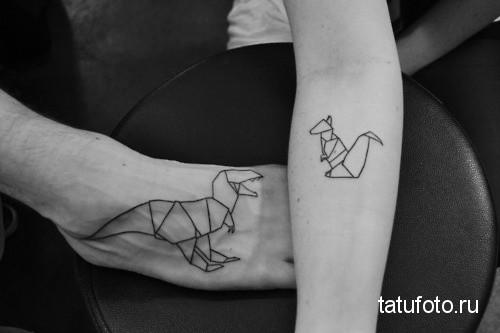 тату геометрия животные 11
