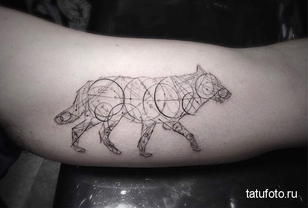 тату геометрия животные 16