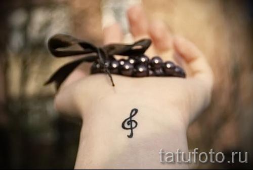 тату на запястье скрипичный ключ 2 фото