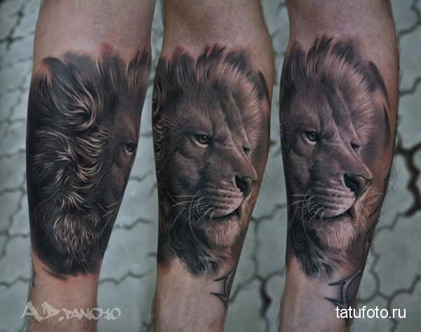 тату на ноге животные 12