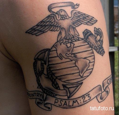 тату эмблема - американская армия