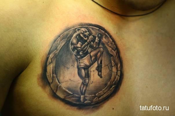 тату эмблема - тайландский бокс