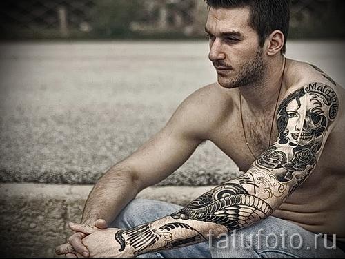 художественная татуировка для мужчин 2 фото