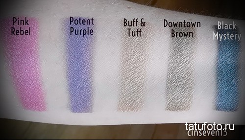 Pigments and dyes for tattooing 135е1313125к1234