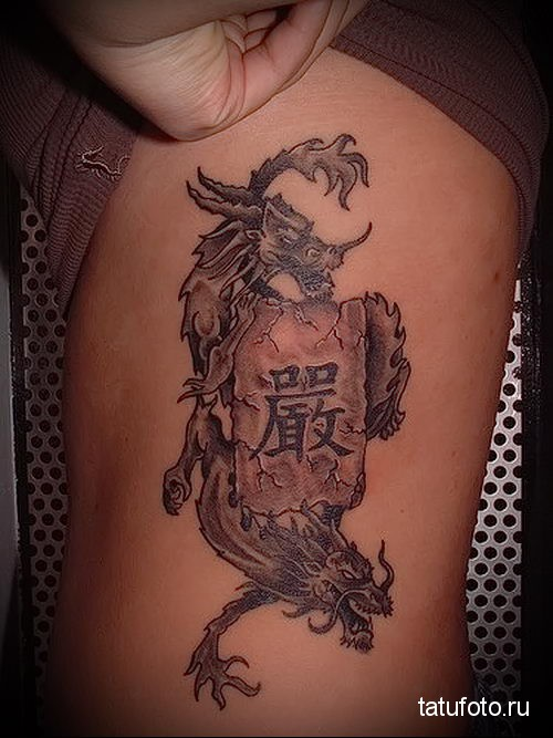 Tattoo Chinese characters with translation 1