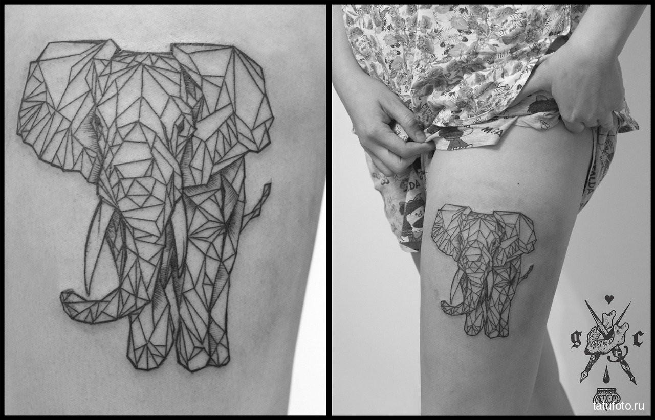 Tattoo geometry animals 11