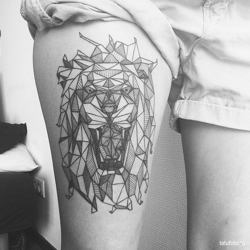 Geometric animals tattoo