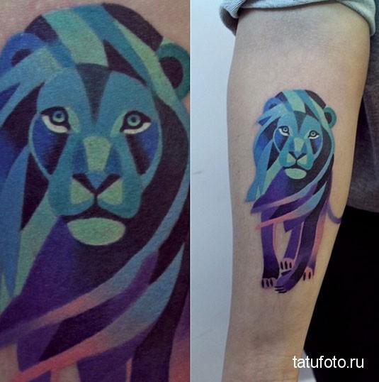Tattoo geometry animals 4