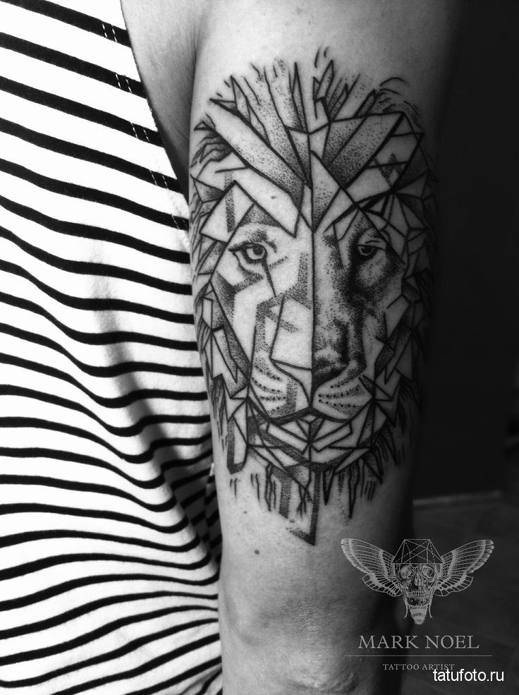 Tattoo geometry animals 5