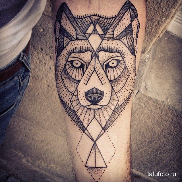 Tattoo geometry animals 8