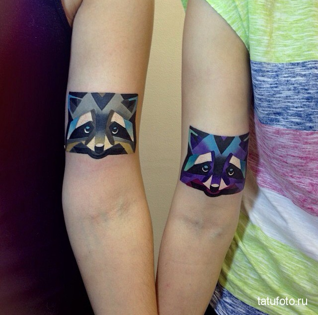 Tattoo geometry animals 9
