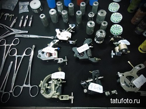 The equipment in the modern tattoo 2342 234 234 24 3