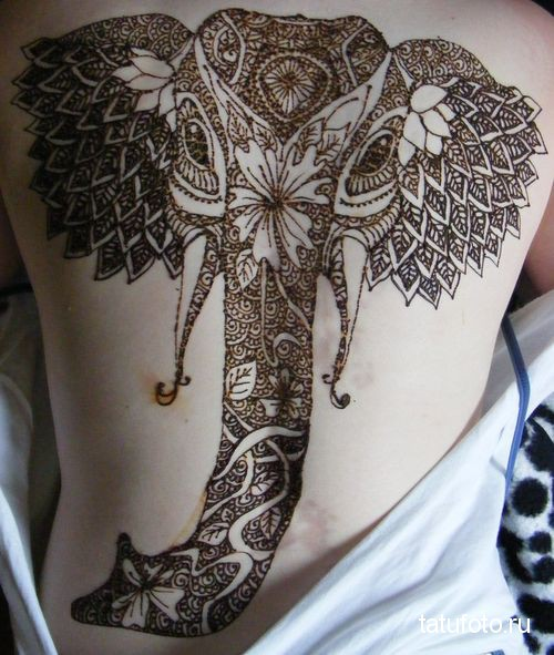 henna tattoo animals 2