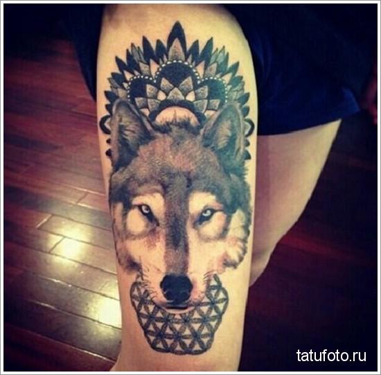 tattoo on his leg animals 10