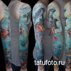 tattoo on the marine theme 1