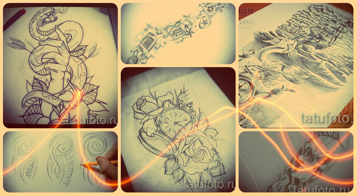 Как из сделать эскиз татуировки 82