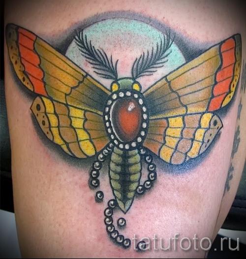 Тату насекомые - большая цветная татуировка