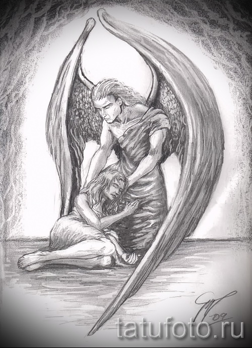 Тату ангелов