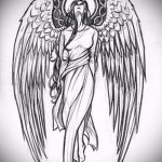 Эскиз тату ангелов хранителей - облик девушки
