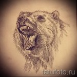 Эскиз тату медведь - красивый вариант