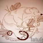Эскиз тату медведь 18