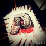Эскиз тату медведь 22