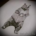 Эскиз тату медведь 27