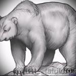 Эскиз тату медведь 32