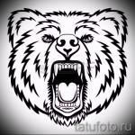 Эскиз тату медведь 36