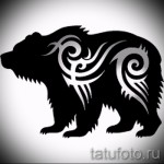 Эскиз тату медведь 49