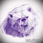 Эскиз тату медведь 8