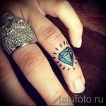 тату алмаз на пальце 4 фото