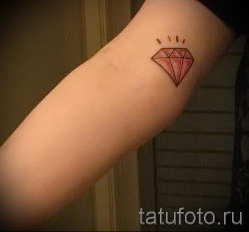 тату алмаз на руке 4 фото