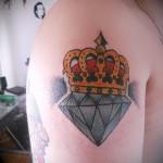 тату корона и алмаз 5 фото