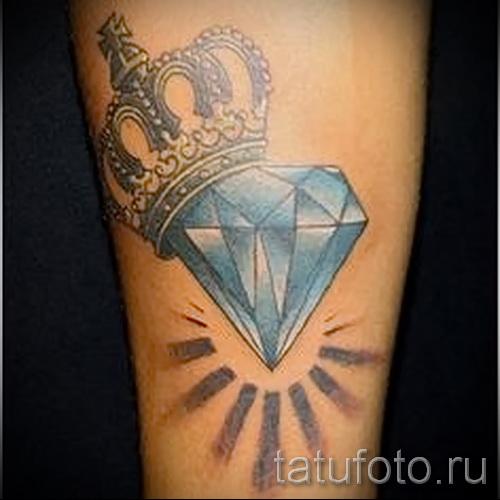 тату корона и алмаз 9 фото