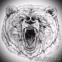 Эскизы тату медведь