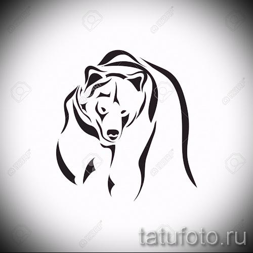 Эскиз тату медведь 9