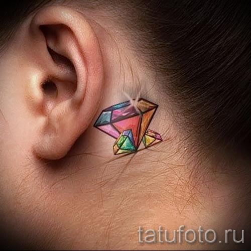 маленькая тату алмаз 6 - фото