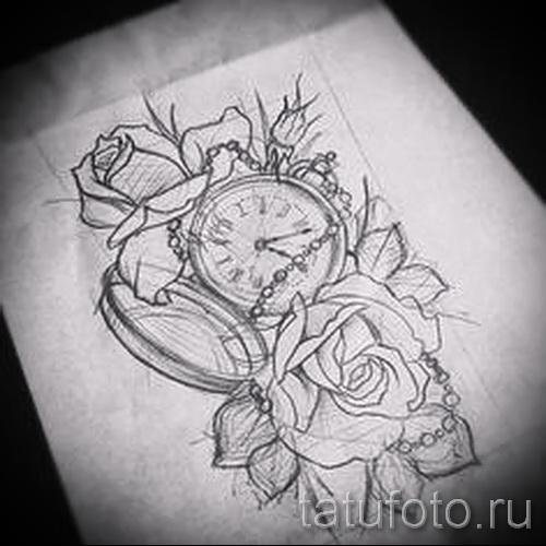 старинные чамы и розы - ТАТУ РУКАВА ЭСКИЗ